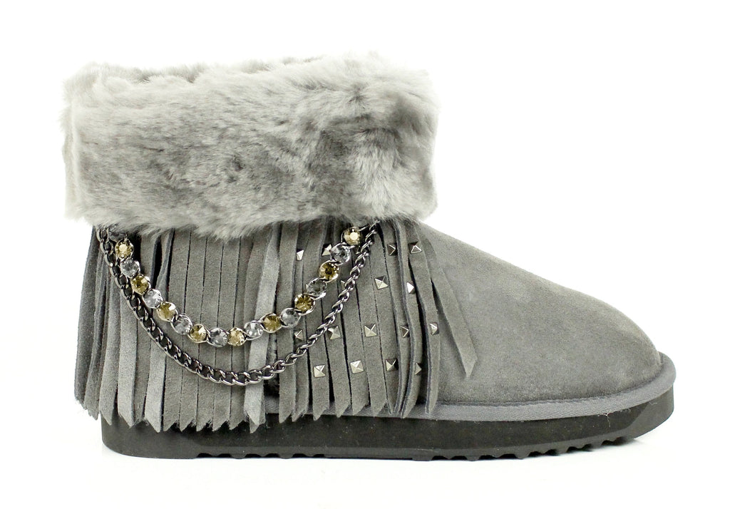 UGG Boots - Ever UGG Boots Alice With Metal Chain Tassel And Rivet #11806