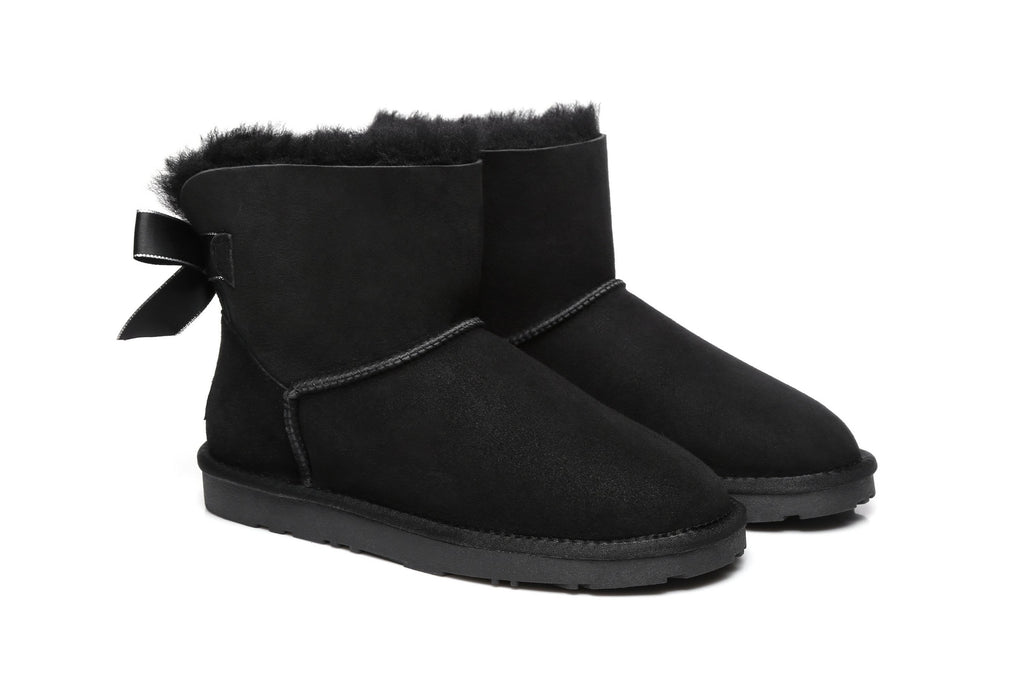Ever UGG Effie,Mini Ladies Bailey Bow Boots #21591 (2275397894202)
