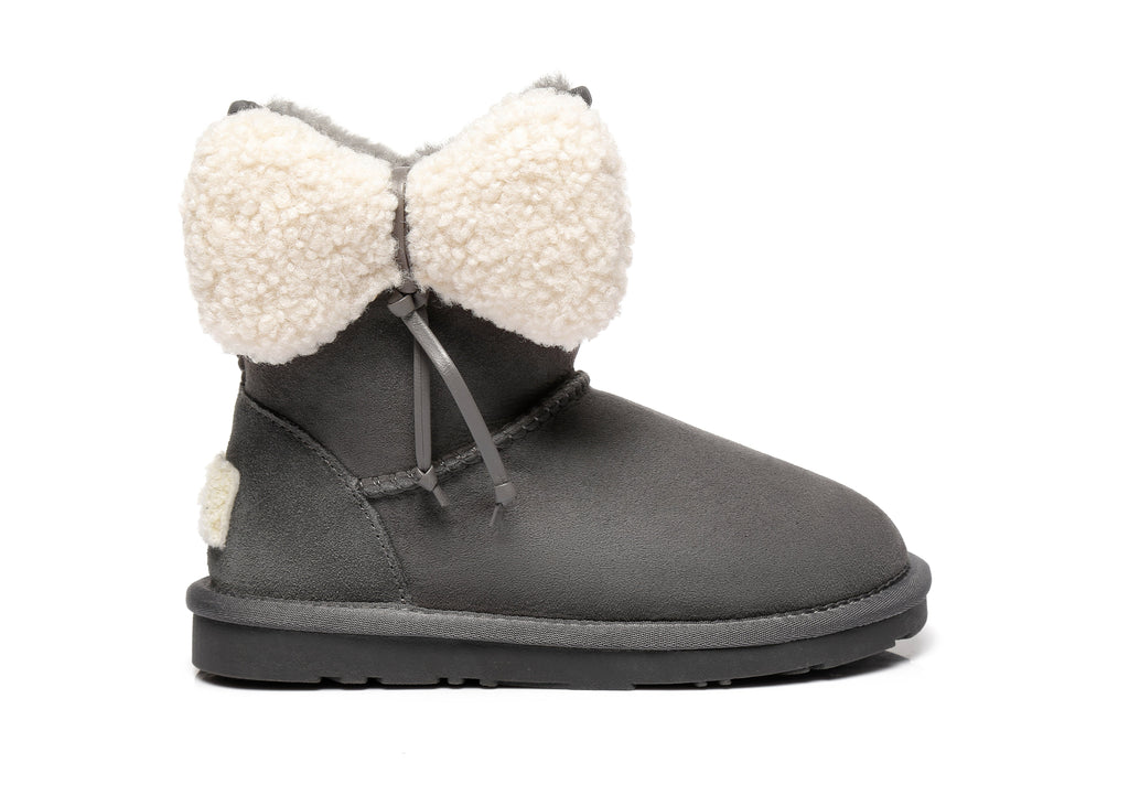 Ever UGG Kids Boots with Bow vela #371002 (2509542391866)