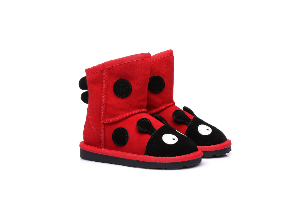 Ever UGG Kids Ladybug Boots in Red #11538 (36513808403)