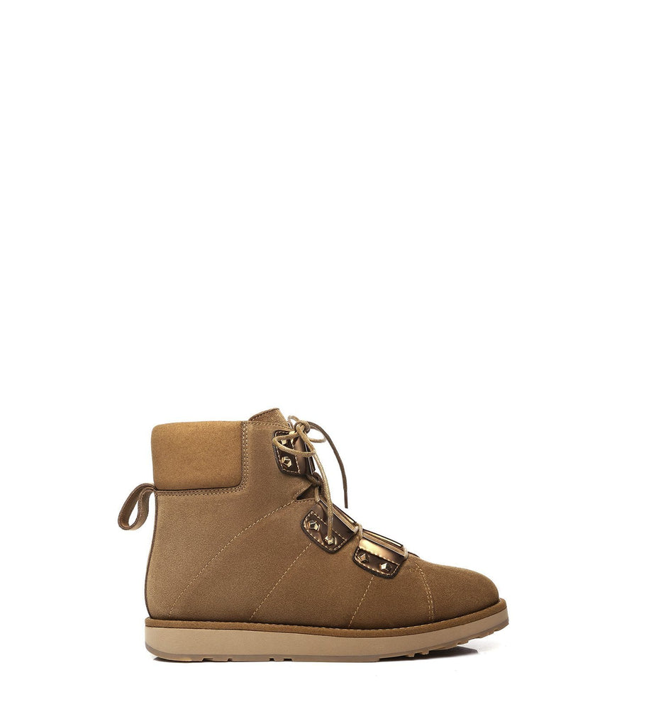 UGG Boots - Ever UGG Lace Up Fashion Boots Croissant #11574