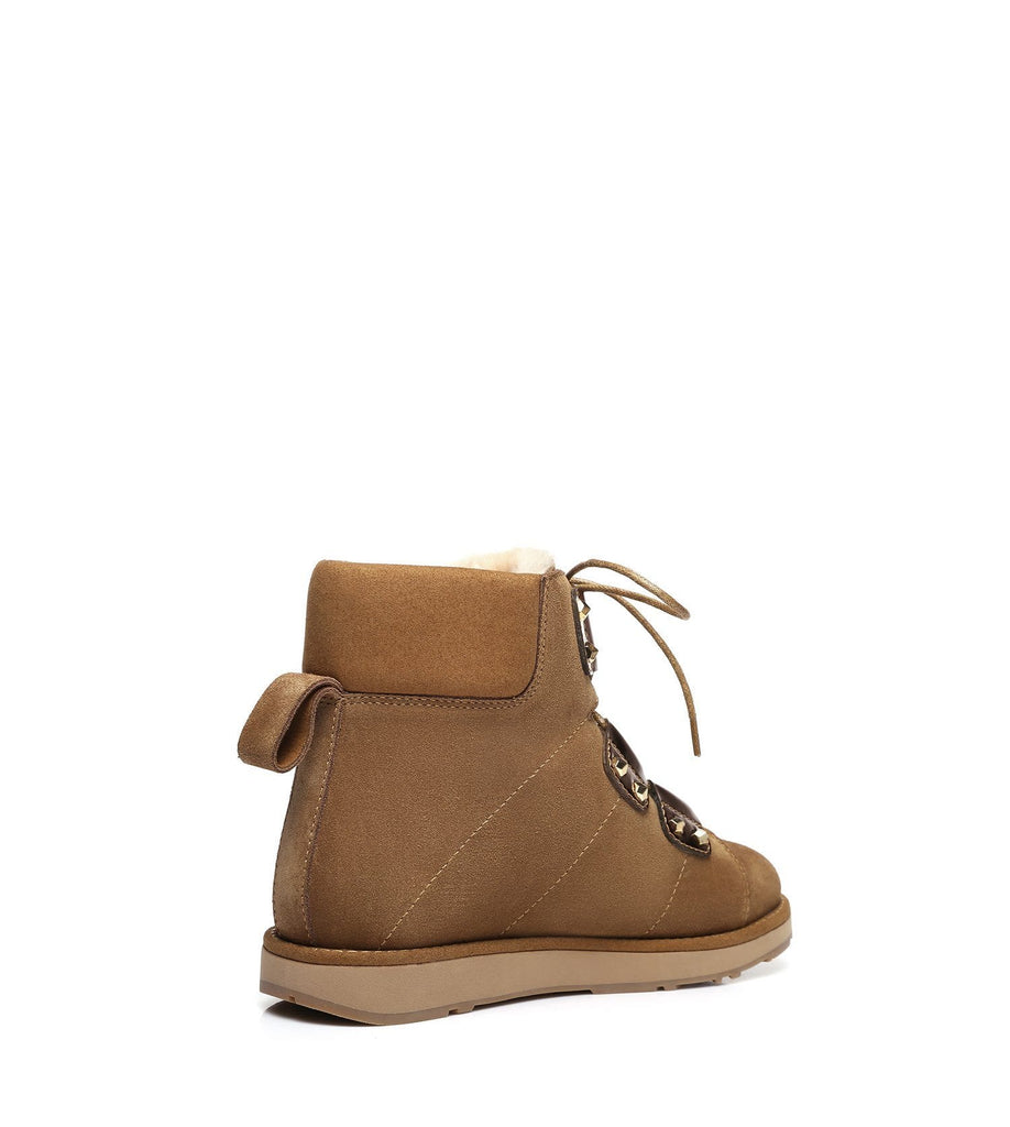 UGG Boots - Ever UGG Lace Up Fashion Boots Croissant #11574 (2019884597306)