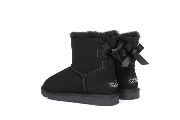 Ever UGG Ladies Bailey Bow  Mini Classic Boots #11737