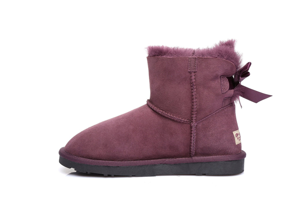 UGG Boots - Ever UGG Ladies Bailey Bow  Mini Classic Boots #11737 (10525547155)