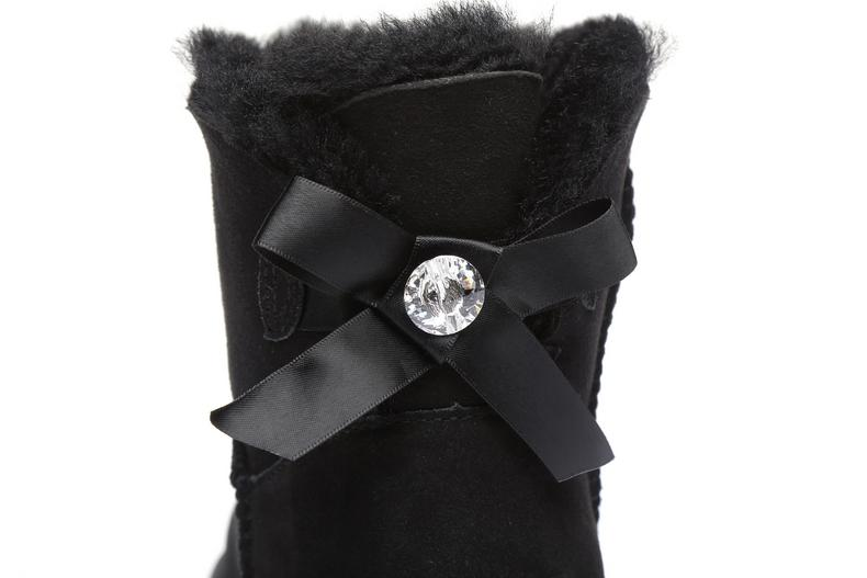 UGG Boots - Ever UGG Ladies Bailey Bow Mini Classic Boots With Crystal #11738