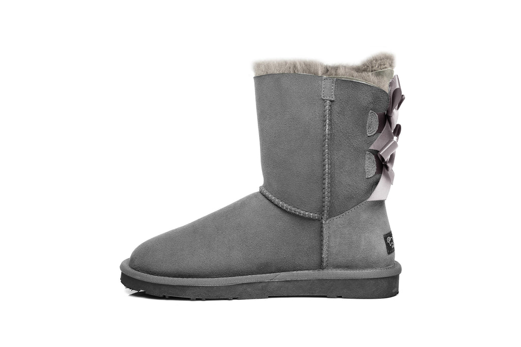 UGG Boots - Ever UGG Ladies Bailey Bow Short Classic Boots #11837 (9872985287)