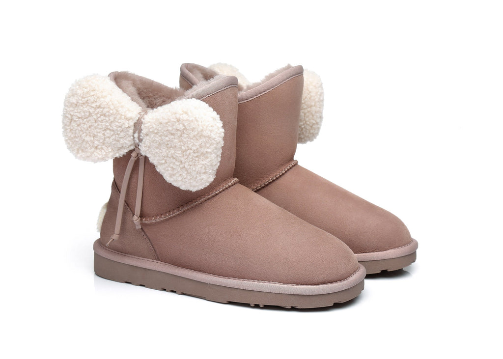 Ever UGG Ladies Boots with Bow vela#371001 (2509532266554)