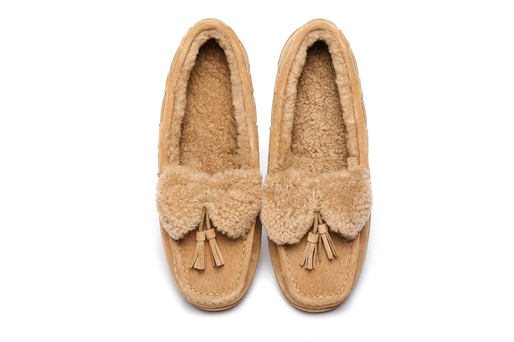 Ever UGG Ladies Fluffy Nicola Moccasin (2525207494714)