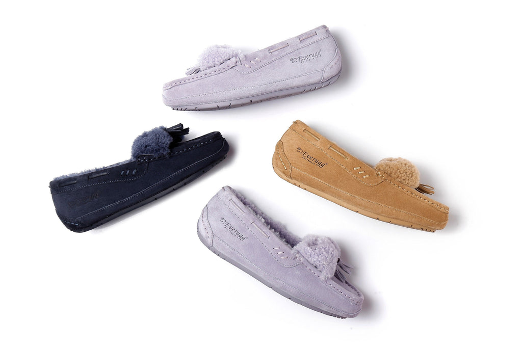 Ever UGG Ladies Fluffy Nicola Moccasin