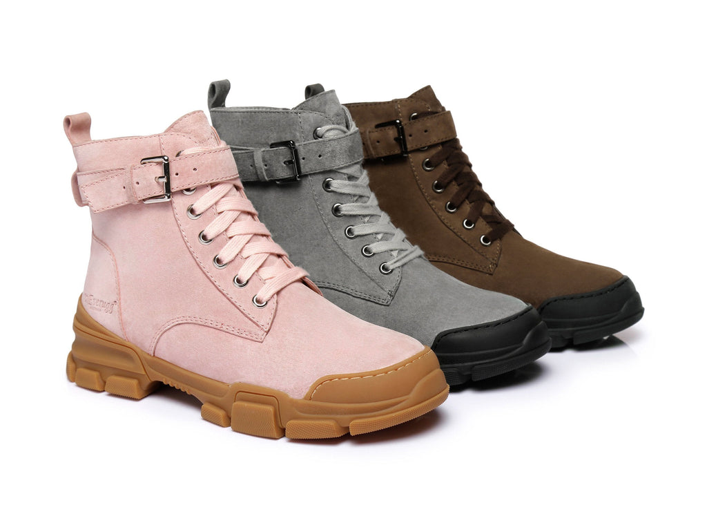 Ever UGG Ladies Leather lace-up boots Sarabi #321024 (2514854182970)