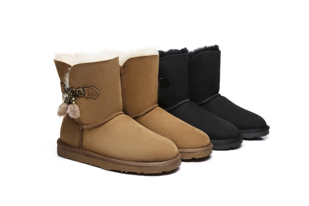 Ever UGG Ladies Short Tassel Boots Faith #21593 (2275413622842)