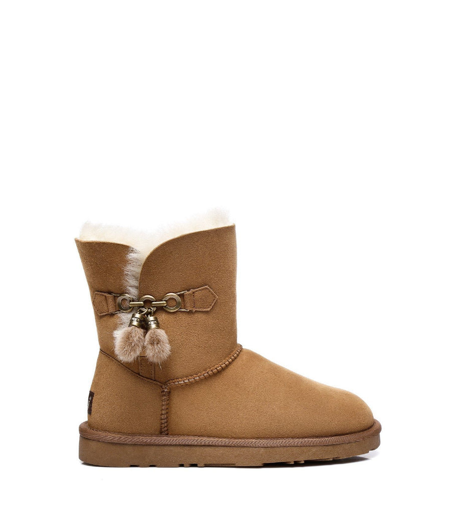 UGG Boots - Ever UGG Ladies Short Tassel Boots Faith #21593 (2275413622842)