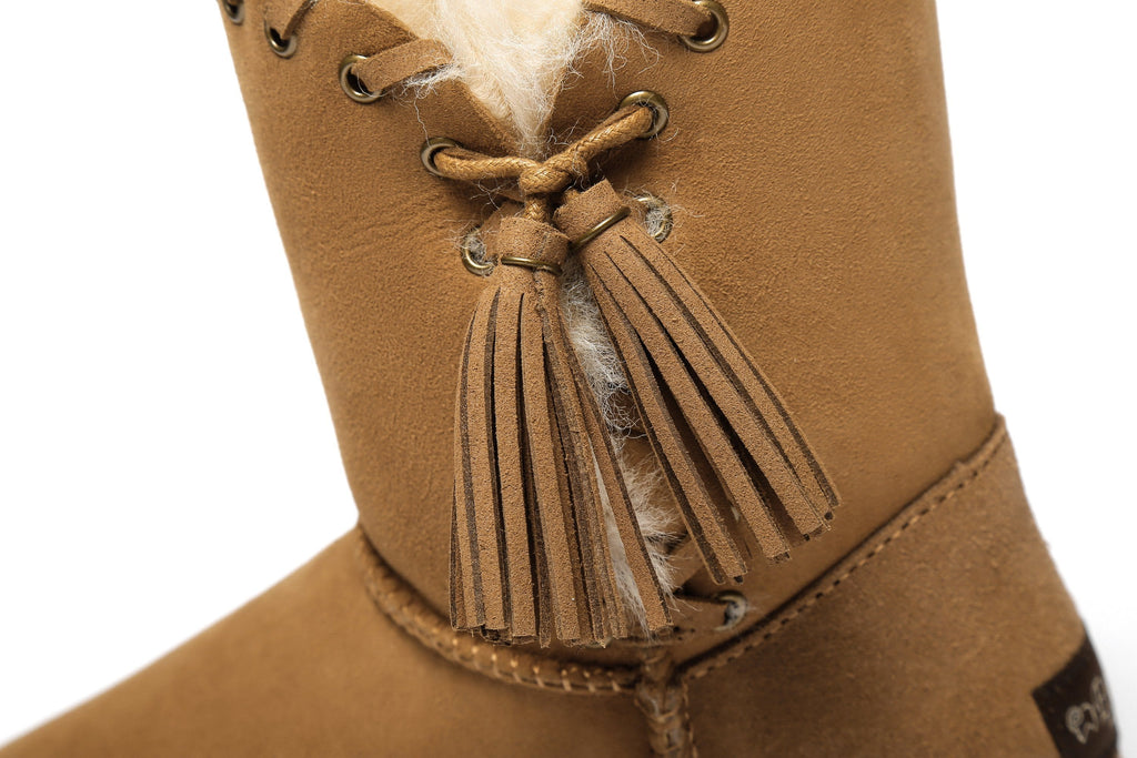 Ever UGG Ladies Tassel Short Boots Carlin #321017 (2514854346810)