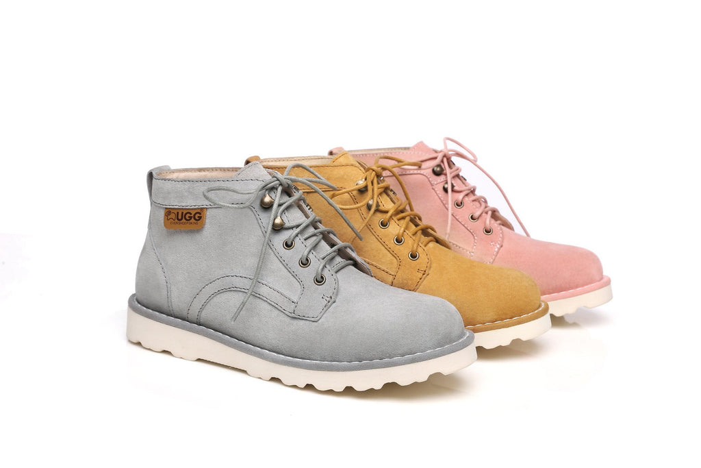 Ever UGG Mini Boots Ladies Treadlite Lace up Shoes Lucia #11699
