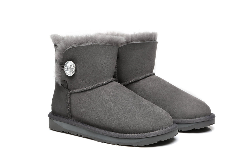 UGG Boots - Ever UGG Mini Button Boots With Crystal #11751- Clearance Sale (92436267027)