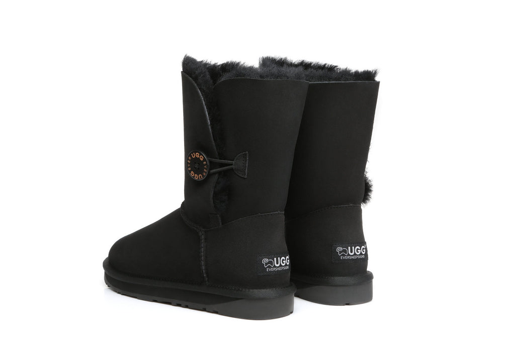 UGG Boots - EVER UGG Short Button Boots #11802 (1787762278458)