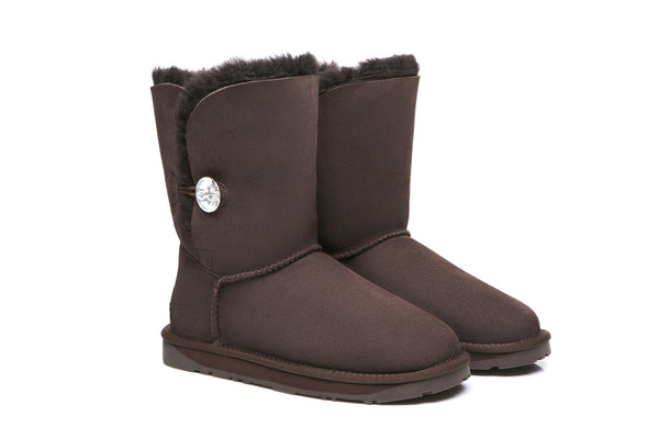 UGG Boots - Ever UGG Short Button Boots With Crystal #11851