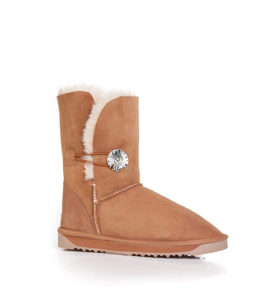 Ever UGG Short Button Boots with Crystal #11851 (92436496403)