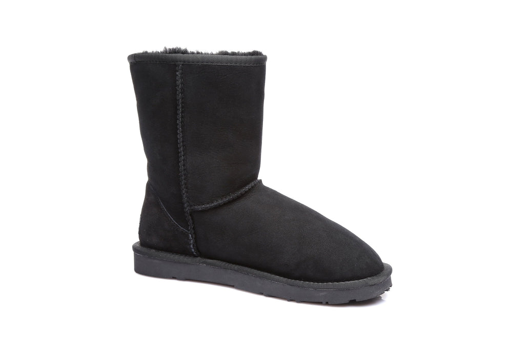 EVER UGG Short Classic Unisex Australia Premium Double Face Sheepskin Water Resistant Boots 11801 (38272892947)