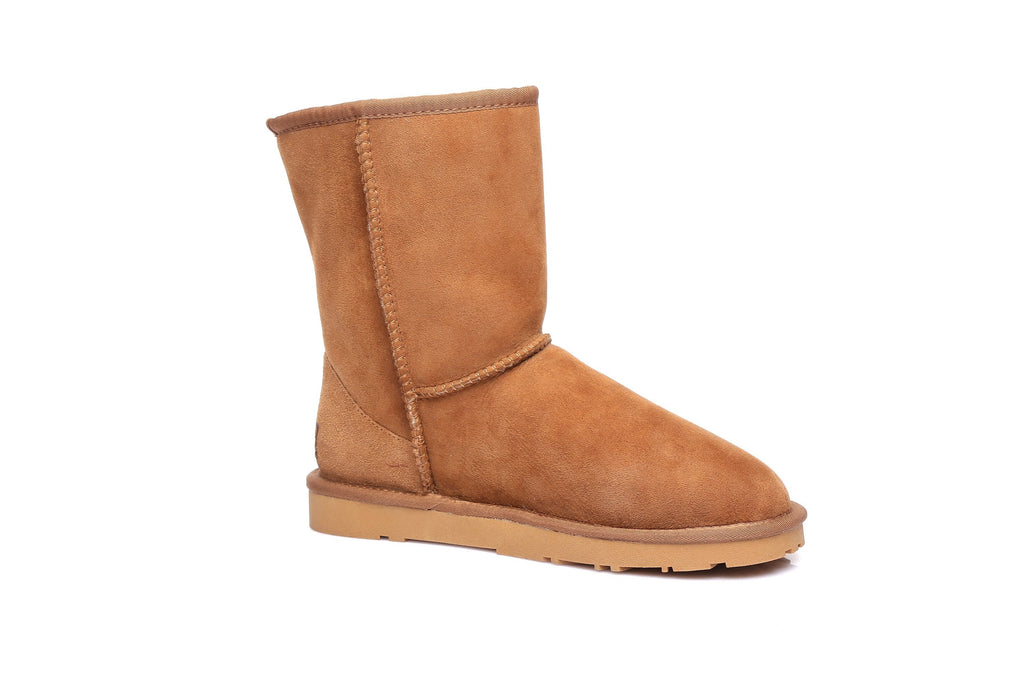 EVER UGG Short Classic Unisex Australia Premium Double Face Sheepskin Water Resistant Boots 11801