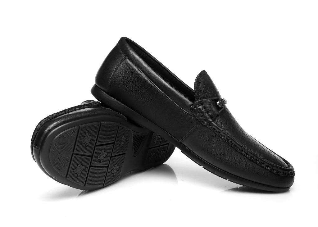 UGG Boots - Nixon Men Leather Casual Flat Moccasin Black