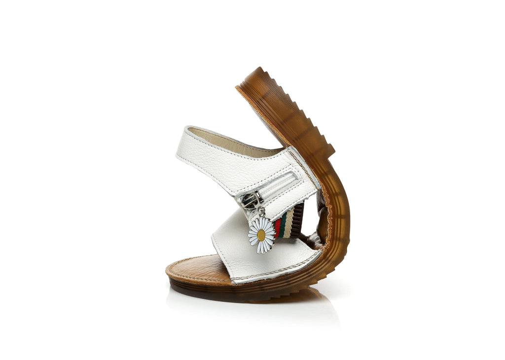 UGG Boots - Renee Slide Women Leather Flat Sandal With Daisy Décor