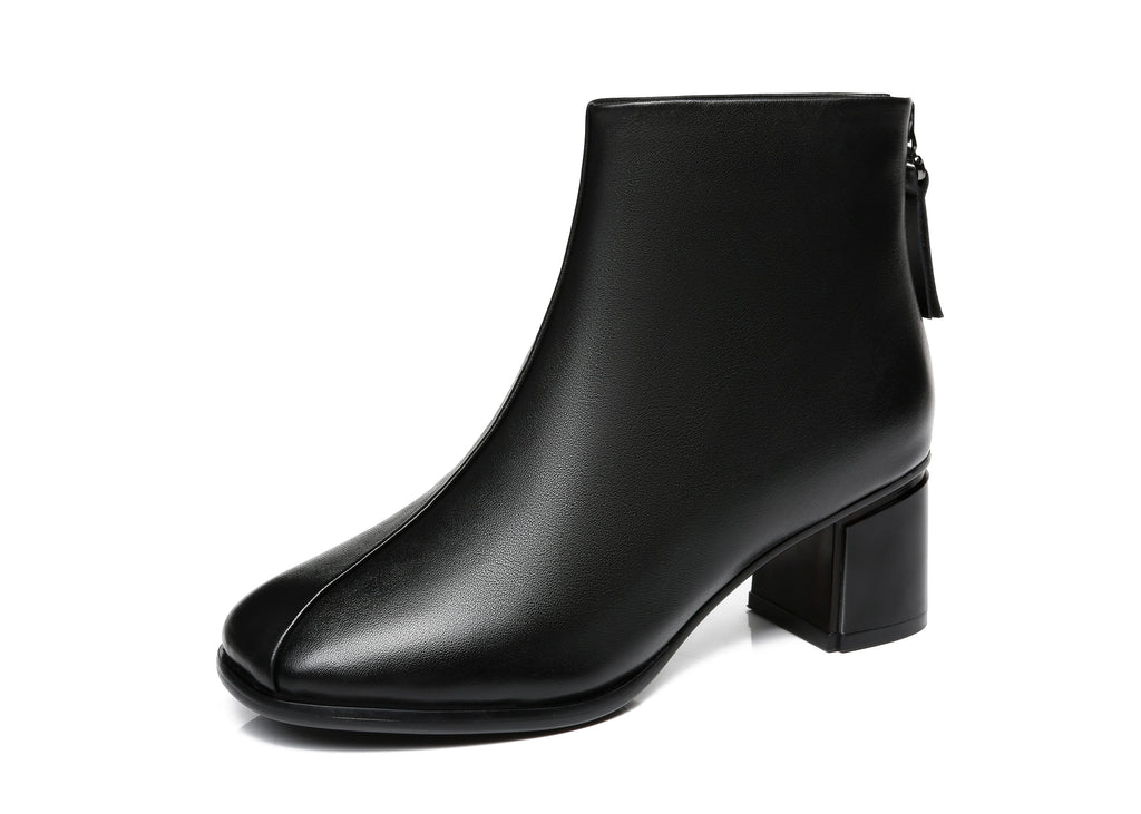 UGG Boots - TA Women Heel Boots Romina Square Toe Leather Chelsea Boots