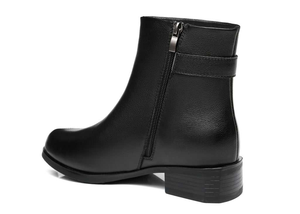 UGG Boots - TA Women Leather Boots Ivana Buckled Chelsea Boots