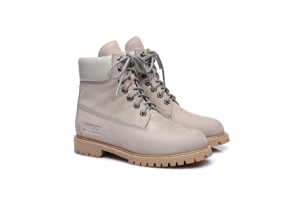 UGG Boots - UGG As*Noah Unisex Nu-buck Leather Boots Formal Work Causal Lace-up Shoes, Sheepskin Lining (2131715031098)