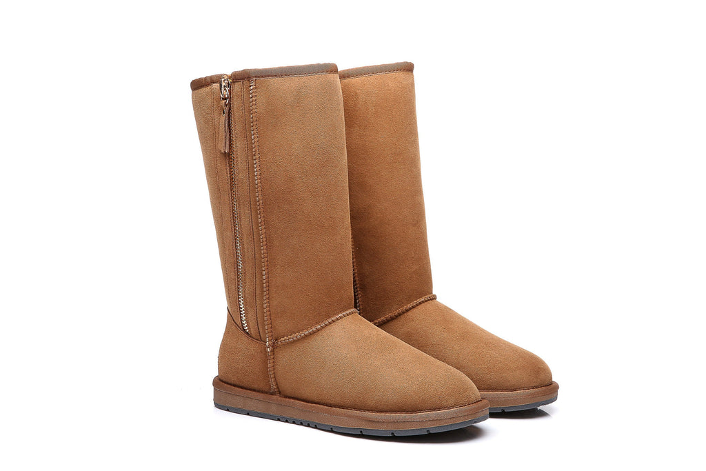 UGG Boots Australia Premium Double Face Sheepski Tall Side Zip,Water Resistant #15984 (10762416275)
