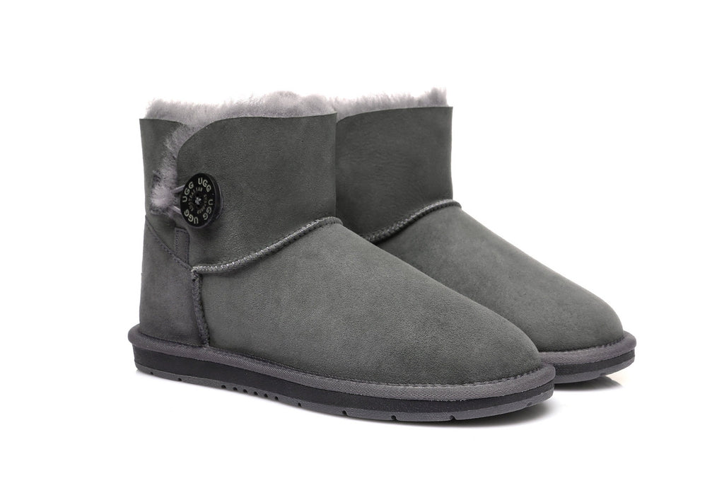 UGG Boots Australia Premium Double Face Sheepskin Mini Button,Water Resistant #15702 (7188435015)