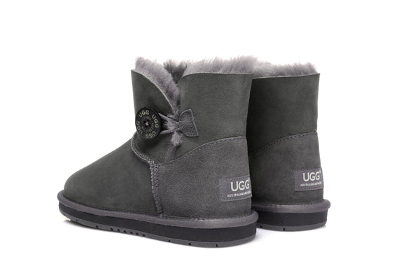 UGG Boots Australia Premium Double Face Sheepskin Mini Button,Water Resistant #15702