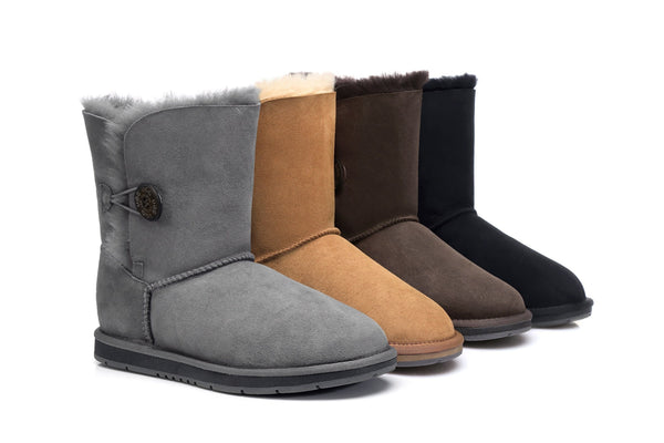 sheepskin ugg boots with button