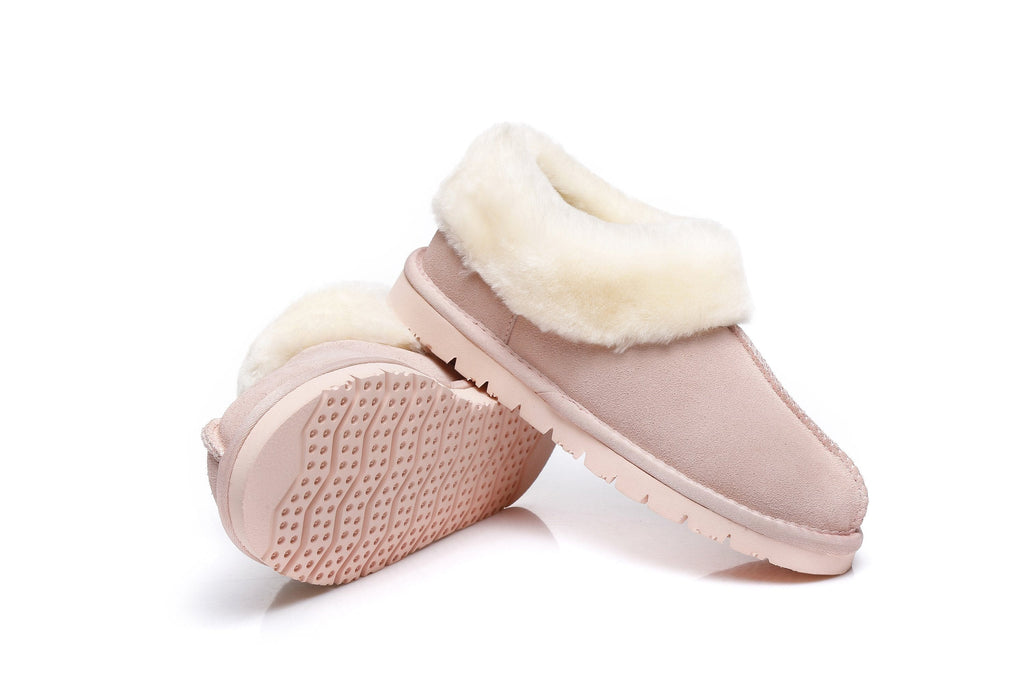 AS UGG Slippers,Australia Premium Sheepskin,Unisex Homey Moccasins (1955869360186)