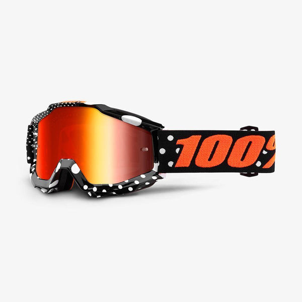 100% Motocross Goggles 2018 100% Accuri MX Motocross Goggles - Gaspard - Mirror Red Lens + Clear Lens