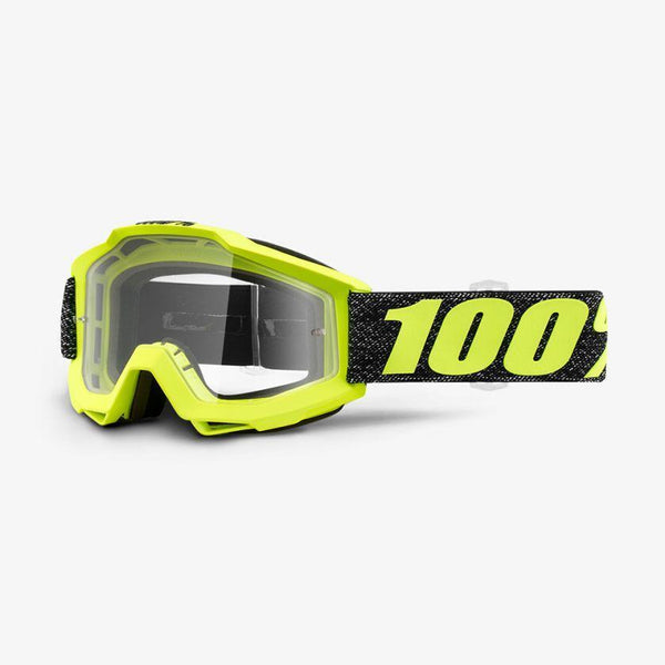 100% Motocross Goggles 2018 100% Accuri MX Motocross Goggles - Tresse - Clear Lens