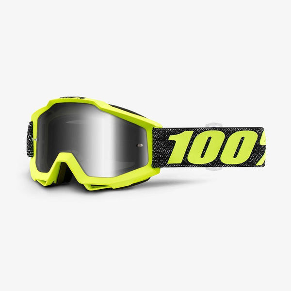 100% Motocross Goggles 2018 100% Accuri MX Motocross Goggles - Tresse - Mirror Silver Lens + Clear Lens