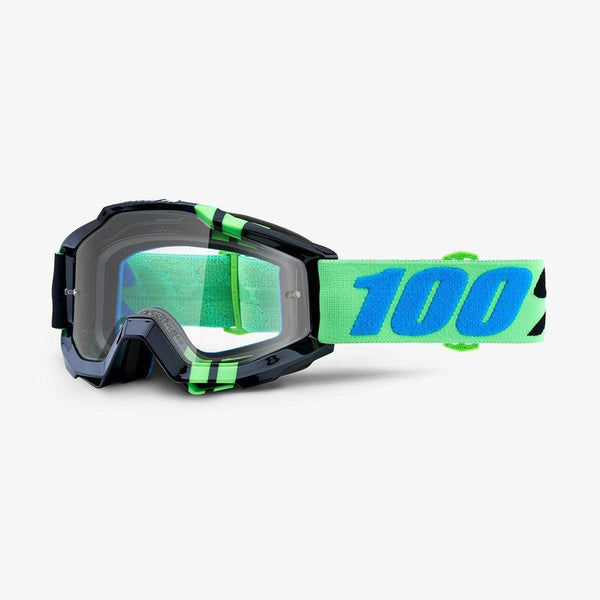 100% Motocross Goggles 2018 100% Accuri MX Motocross Goggles - Zerg - Clear Lens