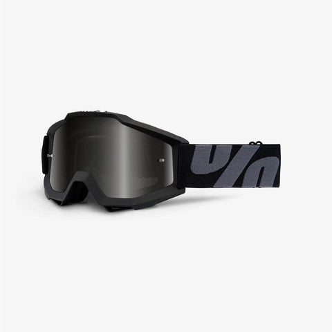 100% Motocross Goggles 2018 100% Accuri Sand OTG Motocross Goggles - Superstition - Dark Smoke Lens + Clear Lens