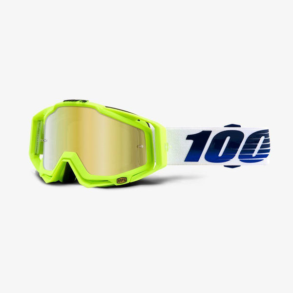 100% Motocross Goggles 2018 100% Racecraft MX Motocross Goggles - GP21 - Mirror Gold Lens + Clear Lens