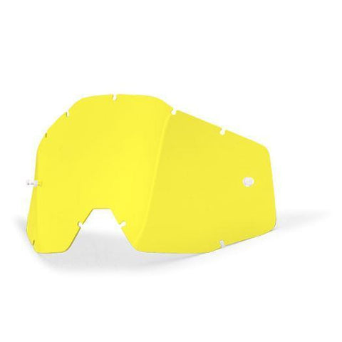 100%-spares 2018 100% Motocross Goggles Anti-Fog Replacement Lens - Yellow