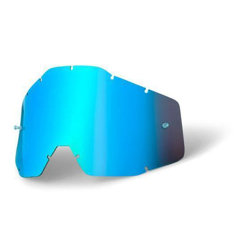 100%-spares 2018 100% Motocross Goggles Anti-Fog YOUTH Replacement Lens - Mirror Blue