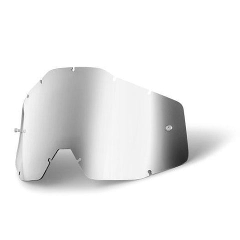 100%-spares 2018 100% Motocross Goggles Anti-Fog YOUTH Replacement Lens - Mirror Silver