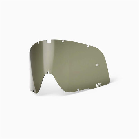 100%-spares 2018 100% Motocross Goggles Barstow Replacement Dalloz Curved Lens - Olive Green