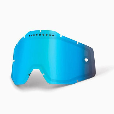 100%-spares 2018 100% Motocross Goggles Replacement Lens - Mirror Blue Vented Dual