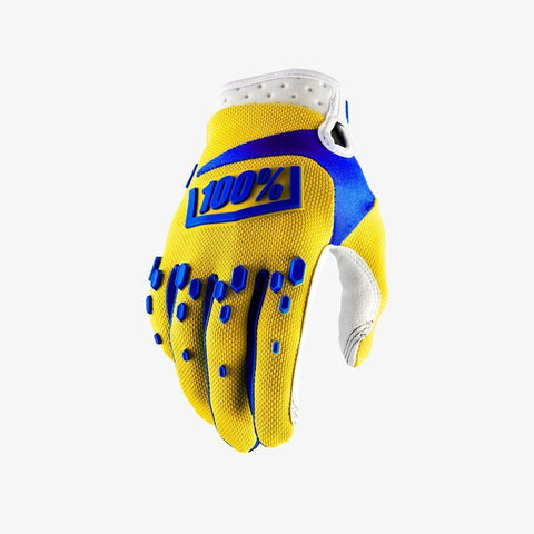 100% Youth Motocross Gloves 2018 100% Airmatic YOUTH MX Motocross Gloves - Yellow - Small