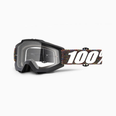 100% Youth Motocross Goggles 2018 100% Accuri MX YOUTH Motocross Goggles - Krick - Clear Lens