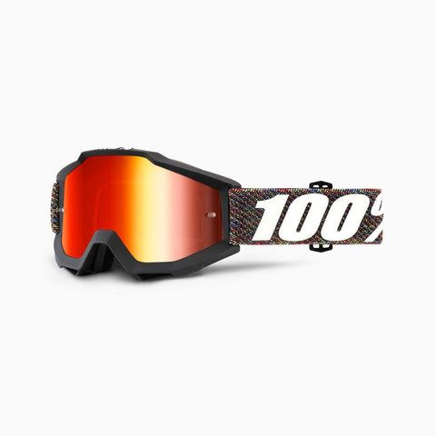 100% Youth Motocross Goggles 2018 100% Accuri MX YOUTH Motocross Goggles - Krick - Mirror Red Lens