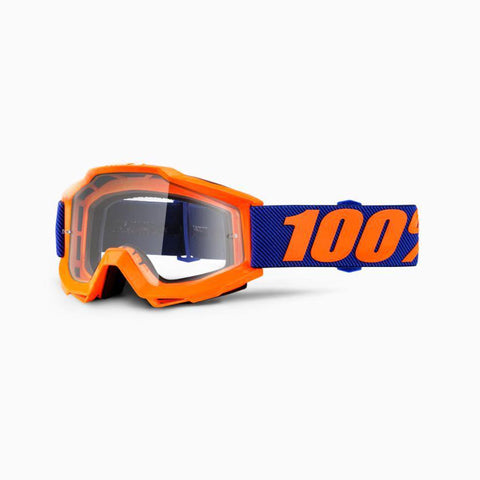 100% Youth Motocross Goggles 2018 100% Accuri MX YOUTH Motocross Goggles - Origami - Clear Lens
