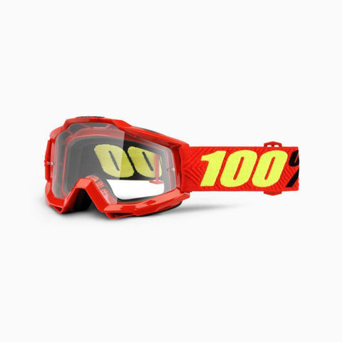 100% Youth Motocross Goggles 2018 100% Accuri MX YOUTH Motocross Goggles - Saarinen - Clear Lens